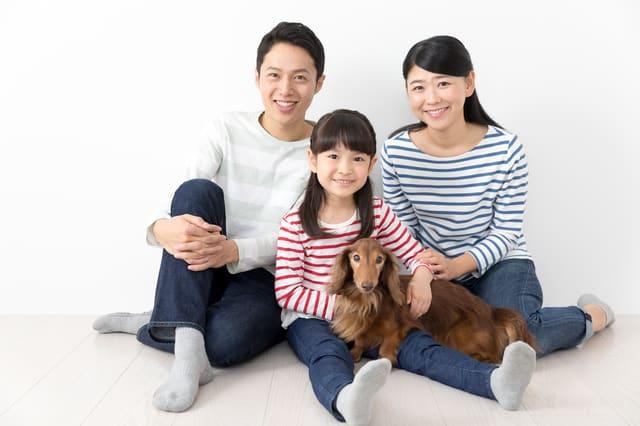 親子とペット