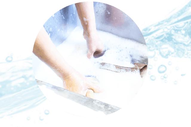 リナビスの洗作業