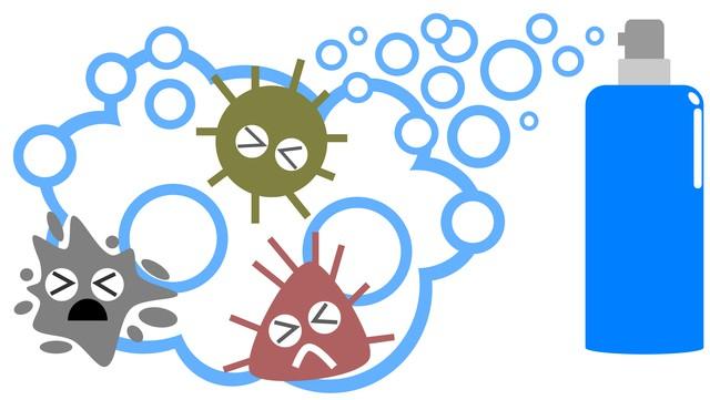 殺菌効果のイラスト